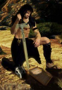 raven-kneeling